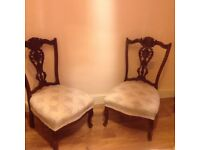 PAIR OF EDWARDIAN NURSING CHAIRS