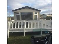 8 berth 3 bedroom deluxe caravan for hire