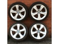"18"" alloy wheel rims tyres bmw 3 series 5 spoke Vauxhall Vivaro Renault Trafic Nissan Primastar 16"