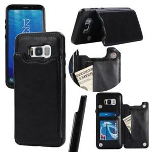 GALAXY s8 AND s8 Plus  LEATHER  CASES WITH CARD SLOTS , PHOTO ID  !!!ALSO CAN MAKE STAND TO WATCH VEDIO