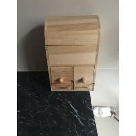 Wooden jewellery beauty dressing table storage box chest drawers