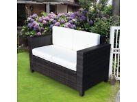 Rattan all weather garden settee