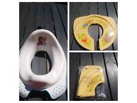 Travel toilet seat for toddler