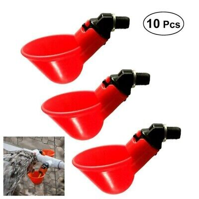 10 PCS Automatic Chicken Quail Pigeon Drinker Water Bowl Feeders Farm Equipment