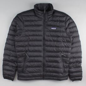 Men's Patagonia Down Sweater Jacket, Brand New with tags, Black, XL