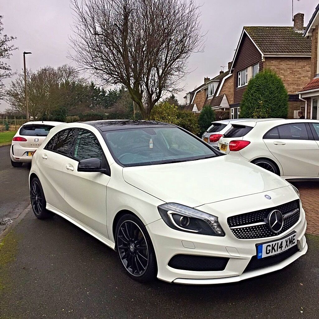 Mercedes a class amg a180 auto diesel white 14 plate in for Mercedes benz plate