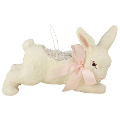 BETHANY Lowe Sweet Easter Bunnies Ivory Running Bunny Buc...