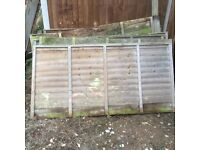 8 , 4ft fence panels