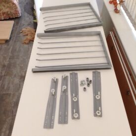 IKEA Komplement trouser rail (x2) & clothes hanging rail (x3) to suit 50cm wide wardrobe.
