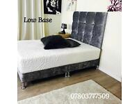 7inch Low crushed velvet bed