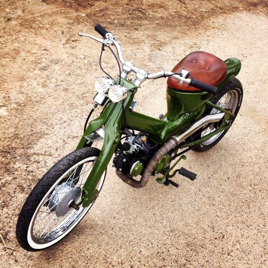 Honda C90 bobber custom moped show winner   in Callington ...  Honda C90 bobbe...