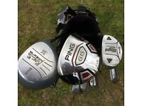 Golf clubs and bag - Cleveland-King Cobra-TaylorMade-Ping-Mizuno (driver/wood/hybrid/putter)