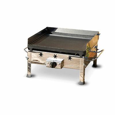 Barbecue a gas piastra ghisa braciere fornello ferraboli 91a plancha inox mshop