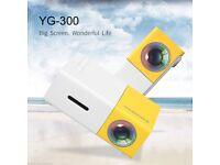 YG300 Mini LED Pocket Projector Home Theater Cinema Full HD 1080P USB HDMI SD TF