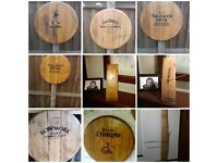 Oak whisky clock