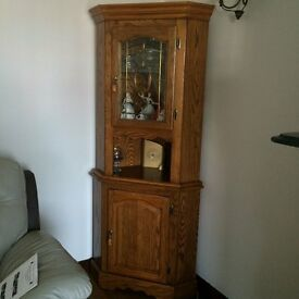 Solid Oak Corner Unit