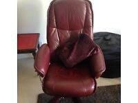 Recliner leather office chair