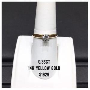 DIAMOND SOLITAIRE RINGS IN 14k