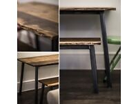 Dining Table Bench Set Handmade By Oneoffoak Seats Up To 6 People