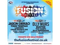 2 x FUSION FESTIVAL TICKETS FOR SUNDAY 4TH SEPTEMBER OLLY MURS BUSTED