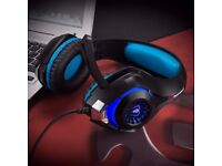 Headset with Mic & LED Light for PS4,PC,XBOX