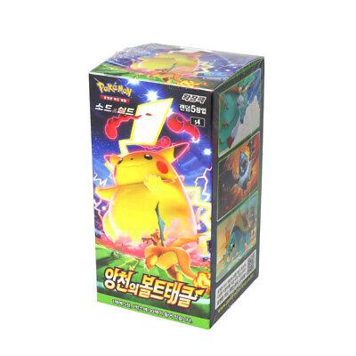 "[Pokemon] Sword & Shield ""Astonishing Volt Tackle"" Booster Box Korean Traceable!"