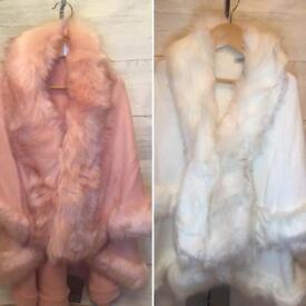 Children's BNWT Faux Fur Capes