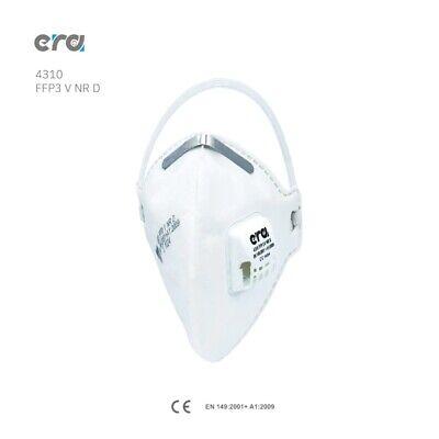 10x era 4310 3M Mund-Nasenschutz Atemschutzmaske mit Ventil Weiß FFP3