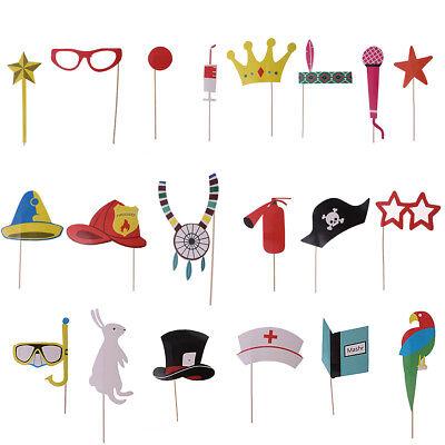Lustige Masken Für Kinder (20x Lustige Fotoaccessoires Foto Requisiten Foto Maske für Kinder zum Party)