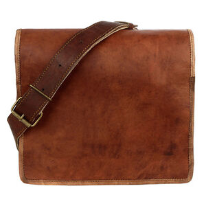 Fair Trade Handmade Medium Brown Leather Courier/Messenger Bag - 2nd Quality