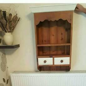 Shabby Chic Solid Wood Wall Unit
