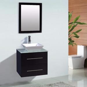 """24"""" Wall Mounted Bathroom Vanity"""