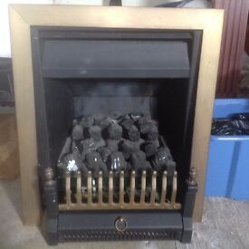 Fire fret, trim, surround, control plate, old gas fire all for sale - see details for price