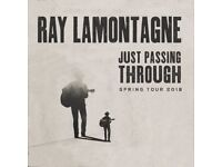2 x Ray Lamontagne Tickets - Eventim Apollo, London May 16 2018