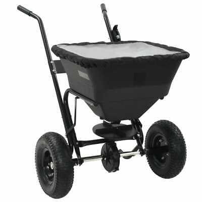 vidaXL Walk Behind Salt Spreader 106x73x76cm 45L Lawn Fertiliser Gritter Wagon