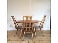 Ercol Drop Leaf Table and 4 x Chairs