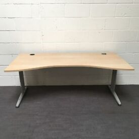 office furniture clearance- maple wave desks 1800 x 18