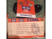 St Mirren v Dundee United Ticket for Centenary Box!!!!