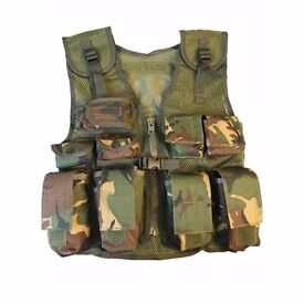 Kombat Kids Assault Vest Army Style Dpm Camo Fully Adjustable Army Airsoft