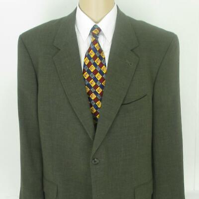44 R (45) Joseph Abboud Soft Olive Brown Wool Mens 2 Btn 2 Pc Suit Pants 37 Mint