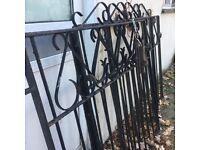 3 wrought iron garden gates