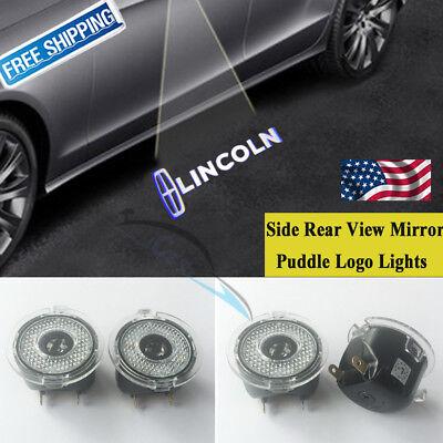 LED Side Rear View Mirror Puddle Logo Light For Lincoln LS MKX MKS MKT Navigator