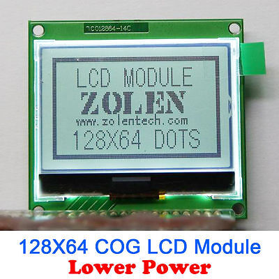 12864 128x64 Graphic Cog Lcd Module Display Screen Lcm Build-in St7565p