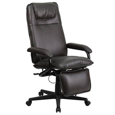 High Back Brown Leather Executive Recliner Swivel Office Chair Bt-70172-bn-gg