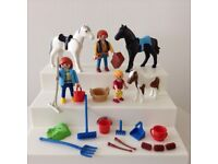 3 x Vintage Playmobil Country Horses Pony sets with figures & extra accessories 1990's
