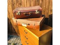 Pair of vintage suitcases