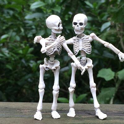 Movable Skeleton Human Model Skull Full Body Mini Figure Toy Halloween Kids Gift (Toy Skeleton)