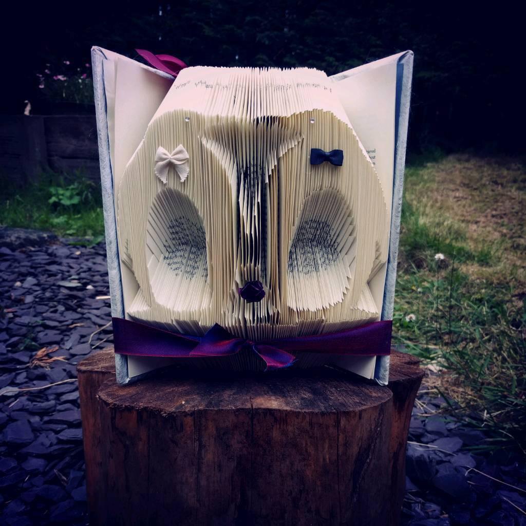 Penguin bookfold, handmade gift, christmas decoration, home decor, xmas gift, animal lover,
