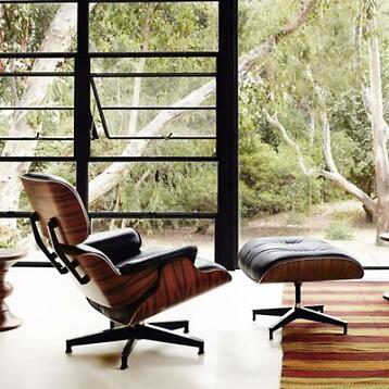 Eames Lounge Chair incl. Ottoman leer / in 2 kleuren €799,95