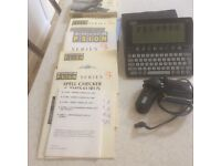 Psion 3a with some additional kit, including handbooks